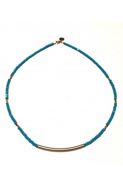 Dámský náhrdelník SYMBOL s trubičkou - tyrkysový