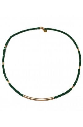 Dámský náhrdelník SYMBOL s trubičkou - zelený