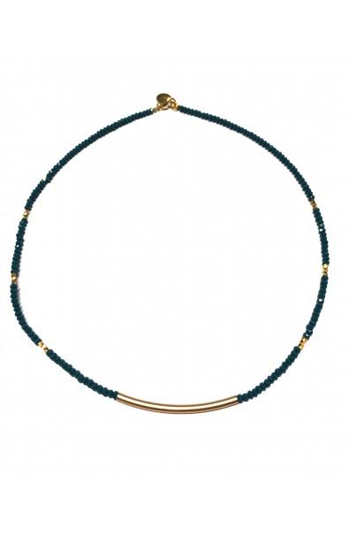 Dámský náhrdelník SYMBOL s trubičkou - modrý