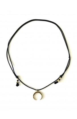 """Dámský náhrdelník SYMBOL - """" půlměsíc s krystaly"""""""