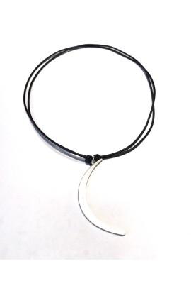 Dámský náhrdelní SYMBOL - Stříbrný půlměsic