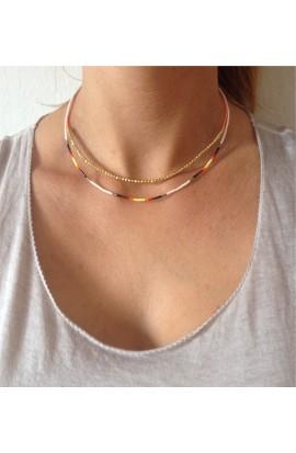 Dvojitý dámský náhrdelník