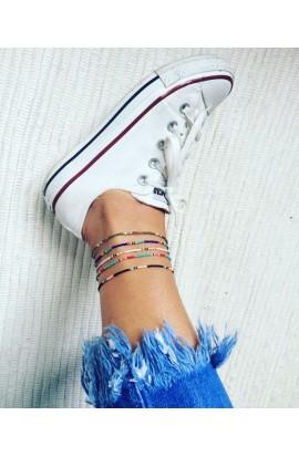 Dámský šperk na nohu SYMBOL tyrkysový mix