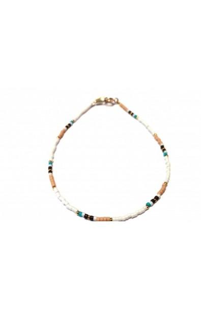 Dámský šperk na nohu SYMBOL bílý mix