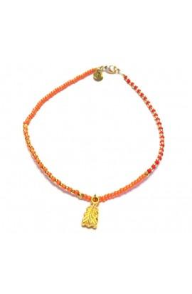 Dámský šperk na nohu SYMBOL - oranžový