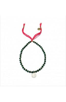 Dámský náramek SYMBOL z japonských korálků a broušených krystalů