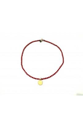 """Dámský náhrdelník SYMBOL """"choker"""" - červený"""