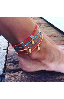 Dámský šperk na nohu SYMBOL - oranžový mix